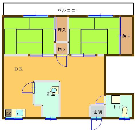 森下アパート202間取り図